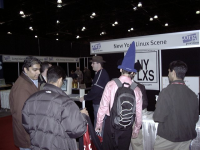 Crowded NYLXS Booth